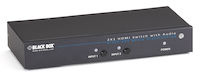 2 x 1 HDMI Switch with 3.5-mm Audio & Serial Control