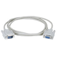 RS-232 Serial Cable - Shielded, PVC, Molded, DB9 Male/Female with Thumbscrews, 15-ft.