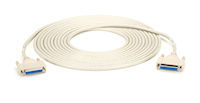 RS-232 Serial Cable - Shielded, PVC, Molded, DB25 Female/Female with Thumbscrews, 25-ft.