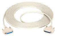 RS-232 Serial Cable - Shielded, PVC, Molded, DB25 Male/Female with Thumbscrews, 25-ft.
