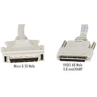SCSI-5 to SCSI-2 Cable - VHDCI 68 Male to Micro D 50 (Mini 50) Male, Custom Length