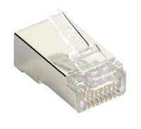 Connect CAT5e Modular Plug for Round Solid/Stranded Cable - Shielded - 100-Pack