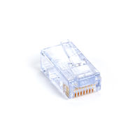 Cat5e EZ RJ45 Modular Plug Connector for Round Solid/Stranded Wire - Unshielded, TAA, 100-Pack