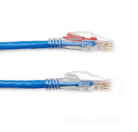 CAT5e 350-MHz Ethernet Patch Cable - Unshielded, PVC, Locking Snagless, RJ-45, Blue, 10-ft.