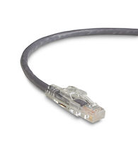 GigaBase3 CAT5e 350-MHz Stranded Ethernet Patch Cable - Unshielded, PVC, Locking Snagless, Gray, 1-ft.