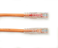 GigaBase 3 Series CAT5e 350-MHz Ethernet Patch Cable - Unshielded, PVC, Locking Snagless, RJ-45, Orange, 6-ft.