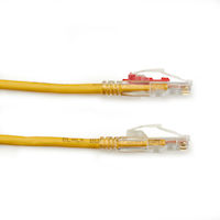 CAT5e 350-Mhz Ethernet Patch Cable - Unshielded, PVC, Locking Snagless, RJ-45, Yellow, 30-ft.