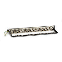 Cat6A Staggered Shielded Feed-Through Patch Panel 24-Port 1U
