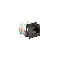GigaTrue® 2 CAT6A Keystone Jack - Unshielded, RJ45, Black