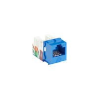 GigaTrue2 CAT6A Keystone Jack - Unshielded, RJ-45, Blue