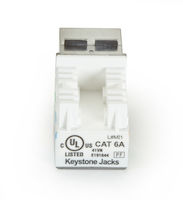 CAT6A Unshielded RJ-45 Keystone Jack - Blue