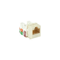 GigaTrue® 2 CAT6A Keystone Jack - Unshielded, RJ45, Office White