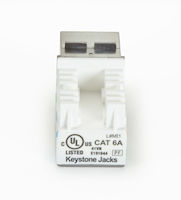 GigaTrue2 CAT6A Keystone Jack - Unshielded, RJ-45, Office White