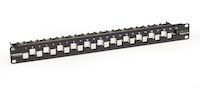 CAT6A Staggered Multimedia Patch Panel - 1U, Blank, 24-Port