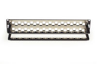 Cat6A Staggered Blank Patch Panel 48-Port 2U