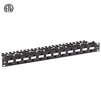 CAT6A Component Level 110 Patch Panel - 1U, Rackmount, PoE+, 24-Port