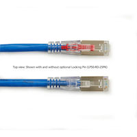 GigaTrue 3 Series CAT6 250-MHz Ethernet Patch Cable - Shielded, PVC, Locking Snagless, RJ-45, Blue, 1-ft.