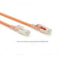 GigaTrue® 3 CAT6 250-MHz Lockable, Shielded, Stranded, Backbone PVC Cable (Sc/FTP), Orange, Custom Length
