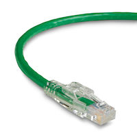 TAA GigaTrue 3 Series CAT6 550-MHz Stranded Ethernet Patch Cable - Unshielded, PVC, Lockable Slimline, Green, 5-ft.