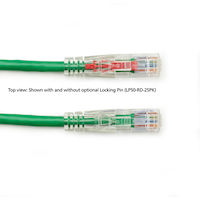 TAA GigaTrue3 CAT6 550-MHz Stranded Ethernet Patch Cable - Unshielded, PVC, Lockable Slimline, Green, 10-ft.