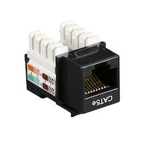 Cat5E Unshielded RJ45 Keystone Jack Black 5-Pack