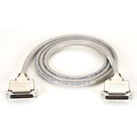 RS-232 Serial Cable - Double-Shielded, PVC, 12-Conductor, Removable Metal Hood, DB25 Male/Male, 50-ft.