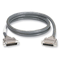 RS232 Double Shielded Cable - Metal Hood, DB25 Male/Female, 25-Conductor, 5-ft.