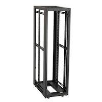 "Elite Network Cabinet - 45U, 30""Wx32""D with M6 Rails, PLEXIGLAS® Front Door, Mesh Rear Door, Solid Side Panels, (3) 4"" Fan Units, Keyed Lock"