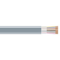RS-232 Bulk Serial Cable - Unshielded, PVC, 25-Conductor, Custom Length