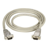 RS232 Shielded Cable - Metal Hood, DB9 Male/Male, 25-ft.