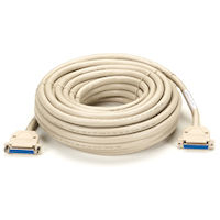 RS232 Shielded Cable - Plastic Hood, DB25 Female/Female, 25-Conductor, 75-ft. (22.8-m)
