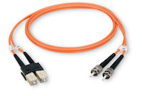 EFN110 Series OM1 62.5-Micron Multimode Fiber Optic Patch Cable - Duplex, PVC