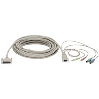 KVM CPU/Server Cable with Audio, PC, PS/2 Standard, 10-ft. (3.0-m)