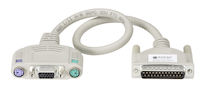 KVM User Cable - DB25, VGA, PS/2 , 1-ft.
