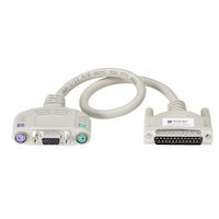 KVM User Cable, Keyboard/Monitor/Mouse Cable with Audio, PS, PS/2 Standard, 1-ft. (0.3-m)