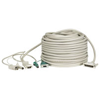 KVM CPU/Server Cable (CPU Cable), PS/2 Coax, 100-ft. (30.4-m)