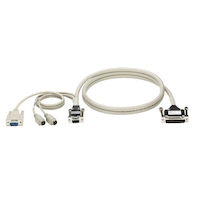 KVM User Cable, Coax, VGA, PS/2, DB9 for Touch Screen Support, 1-ft