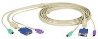 KVM User Cable, VGA, PS/2, 20-ft.