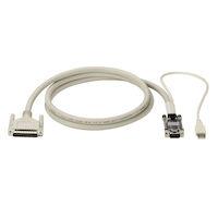 KVM CPU Cable, VGA,USB, Coax , 50-ft.
