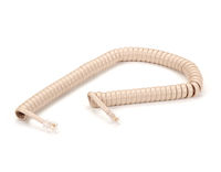 Coiled Telephone Handset Cord - Ivory, 6-ft.