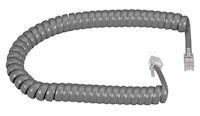 Coiled Telephone Handset Cord - Dark Gray, 6-ft.