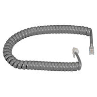 Coiled Telephone Handset Cord - Dark Gray, 12-ft. (3.7-m)