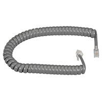 Coiled Telephone Handset Cord - Dark Gray, 25-ft. (7.6-m)