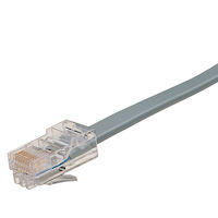 Telephone Cable - Straight-Pin, RJ-45, 8-Wire, 7-ft.
