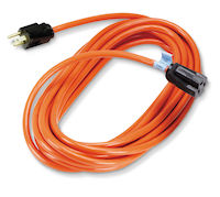 Heavy Duty Indoor/Outdoor Extension Cord - Single-Outlet, 14/3 Grounded, Orange, 25-ft.
