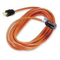 3 100-Ft In/Outdoor Ext Cords, Triple-Outlet, Gnd, Orange