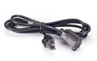 6.5-ft NA Power Cord, NEMA 5-15P to NEMA 5-15R, Black