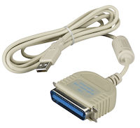 USB Parallel Printer Cable - USB Type A Male, Centronics Male, 6-ft.