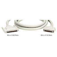 External SCSI Cable VHDCI 68 Male To Micro D 50 Male 6Ft.