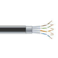 CAT6 250-MHz Stranded Ethernet Bulk Cable - Shielded (S/FTP), CM PVC, 1000-ft. (304.8-m) Spool